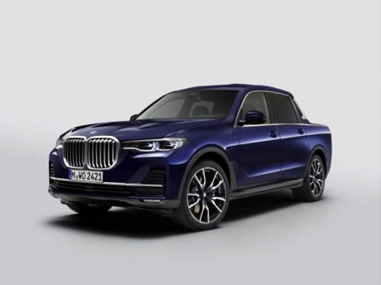 BMW X7 pickup truck. What does the most luxurious pickup truck look like