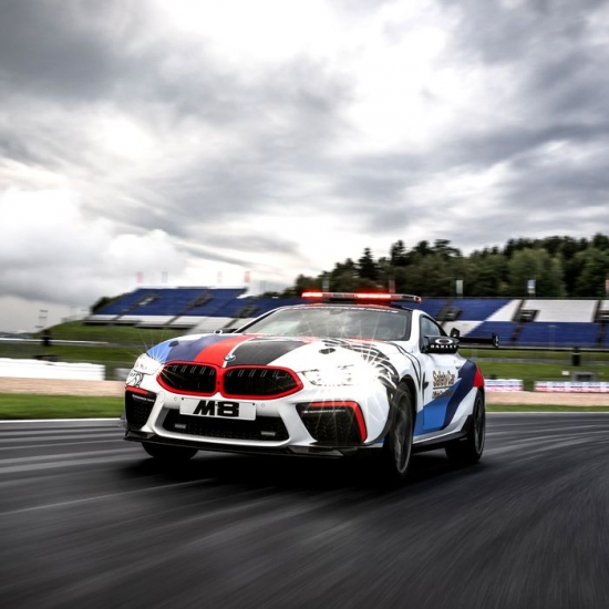 The new BMW M8 MotoGP Safety Car
